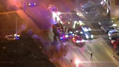 A man is locked in an intense stand-off with police in Ferguson, Missouri. (9NEWS)