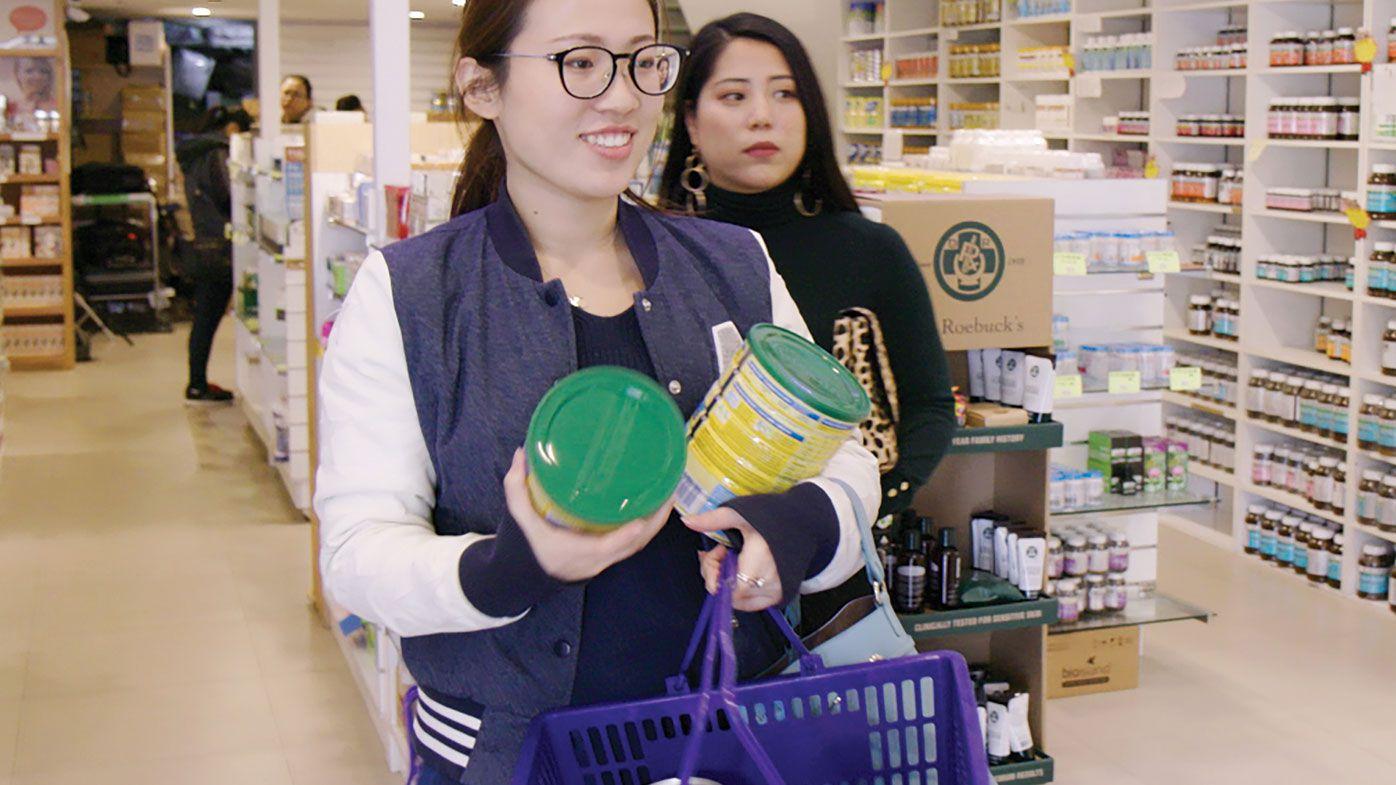 Shopper at AuMake's Parramatta store.