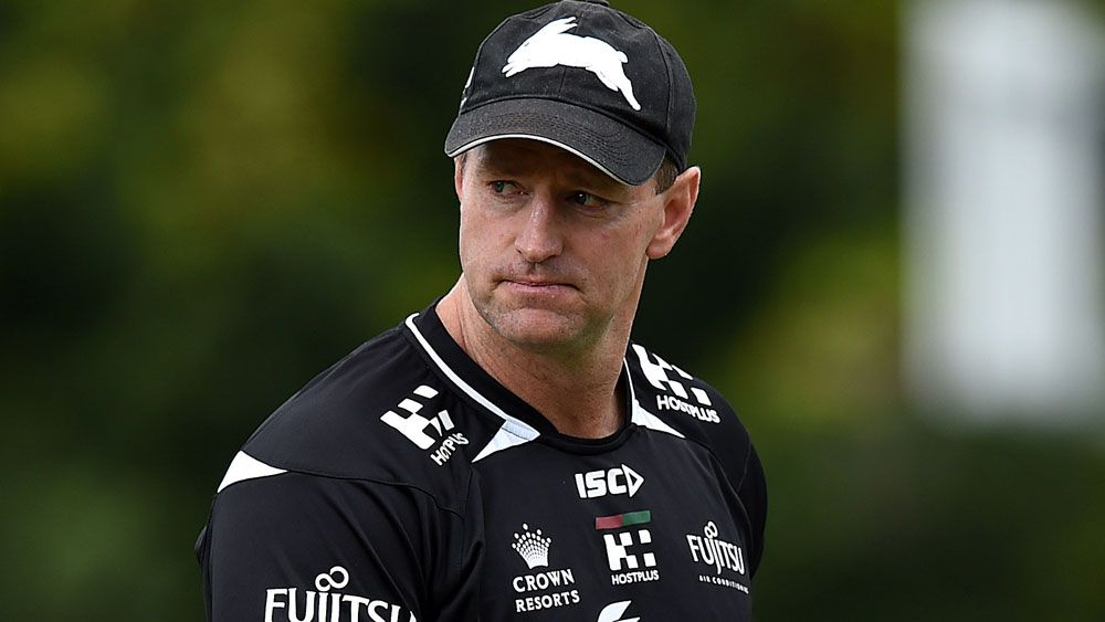 Michael Maguire has extended his stay at the Rabbitohs. (AAP)