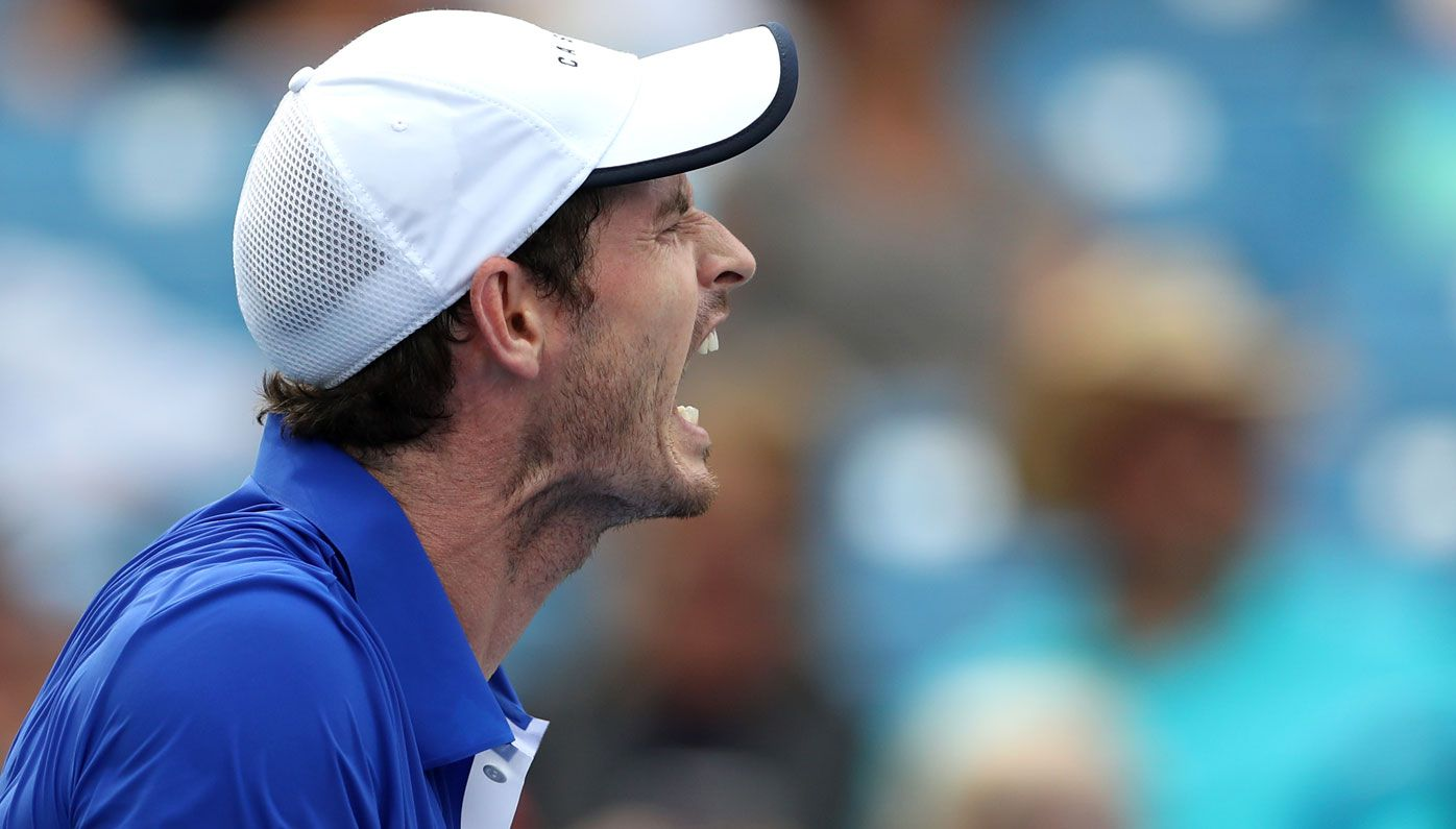 Andy Murray loses his cool during first round loss at Winston-Salem Open