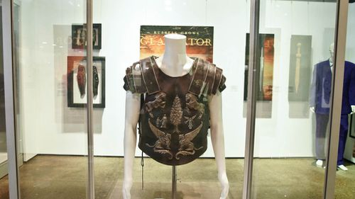 """One of the costumes from the film """"Gladiator"""". (AAP)"""