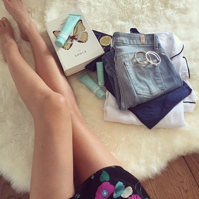 <p>Oh hey Miranda again. This post is for Swarovski, but we see more legs and Kora Organics than sparkling crystals...</p>