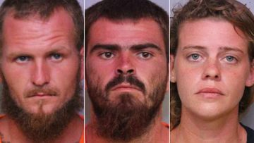 "Tony 'TJ' Wiggins, 26, his girlfriend, Mary Whittemore, 27, and his brother, William ""Robert"" Wiggins, 21, (centre) were all arrested in relation to the killings of three fishermen."