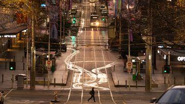 Bourke Street deserted due to Melbourne lockdown