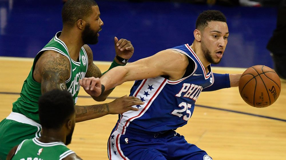 NBA: Ben Simmons gets into scuffle with Marcus Morris in loss to Boston Celtics