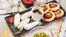 Family Food Fight: Alatini and Samadi Puffed Cream Rolls and Rhubarb Pastries