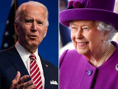 US President Joe Biden and Queen Elizabeth II