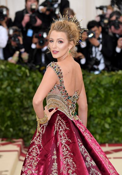 "<p>In a custom-made gown from Versace that took over 600 hours to complete and $2 million worth of Lorraine Schwartz jewellery, it seems that where Blake Lively chose to budget was in the beauty department.</p> <p>The actress's go-to makeup artist,&nbsp;Kristofer Buckle , used only budget-friendly beauty products from L'Oreal to give the <em>Gossip Girl </em>star her signature polished aesthetic. </p> <p>''Blake's look tonight was inspired by Italian religious paintings,"" says Buckle in a press release. </p> <p>""We wanted to create a very structured look with strong bone contouring like the statues of Saints I've seen.""</p>"
