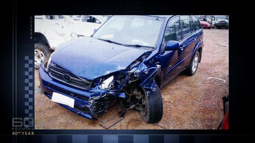 A crash in Darwin left the driver of this car with serious injuries inflicted by the faulty airbag.