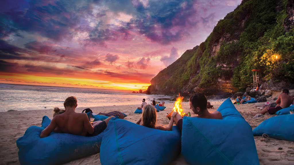 Bali's best beach clubs located for summer. Pictured: Sundays Beach Club, Ungasan