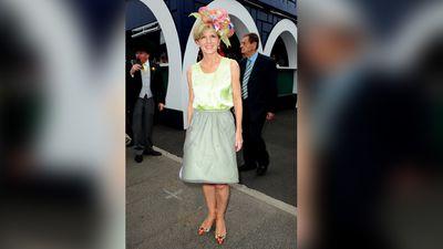 Julie Bishop arrives at the Melbourne Cup. (AAP)