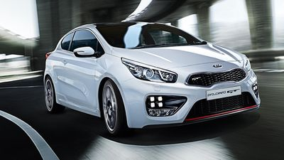 The Kia ProCeed GT was rated the best value performance vehicle under $75,000, with the Hyundai Veloster SR Turbo coming second, and the Toyota 86 coming third. (Supplied)