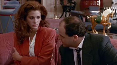 Julia Roberts and Jason Alexander in Pretty Woman.