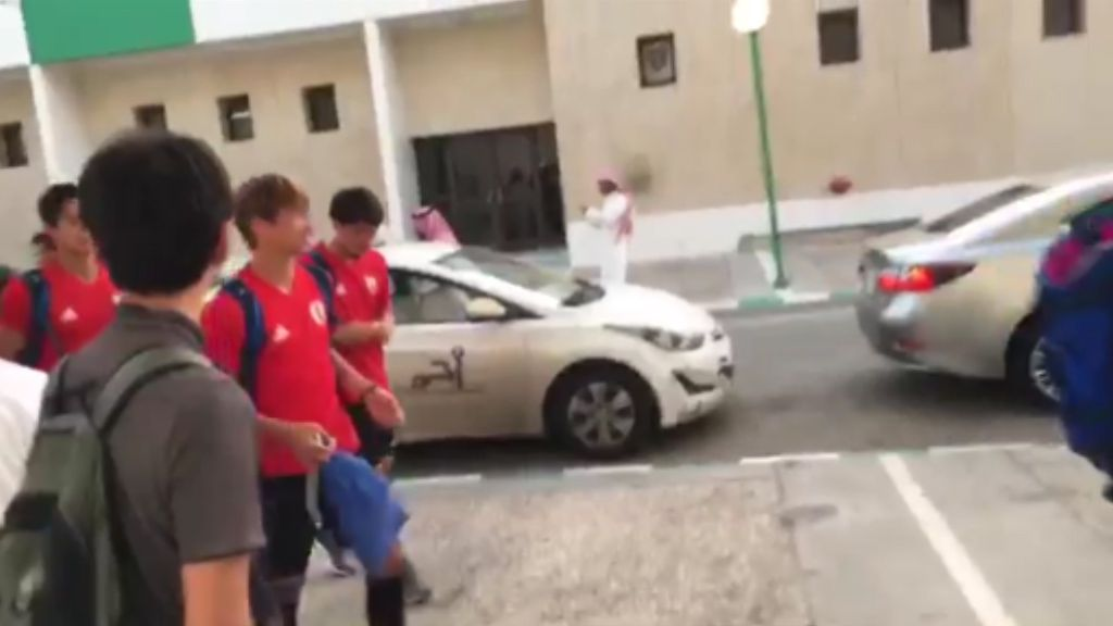 Taxi! Japanese footballers forced to catch cabs