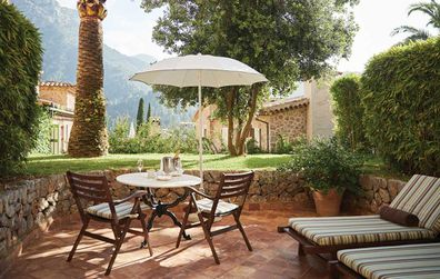 La Residencia uegsts can relax in their own private terrace, complete with daybed and a dining table for two.
