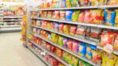 Supermarket chips aisle