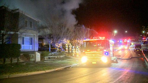 Just hours later, the family returned to their home to find it engulfed in flames. Picture: 9NEWS