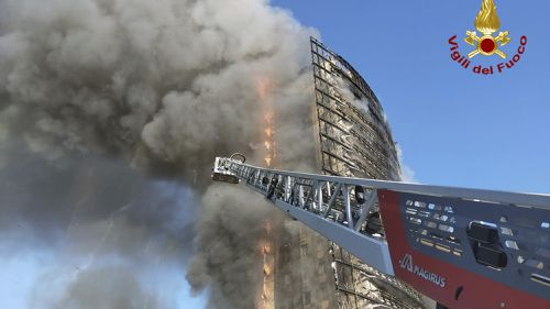 There were no immediate reports of injuries or deaths in the fire.
