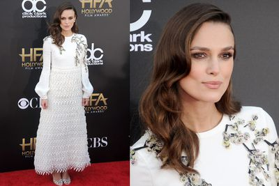 Kudos to Keira Knightley for somehow pulling this strange look off.<br/>