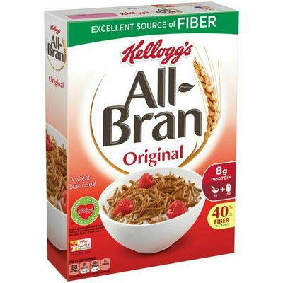Kellogg's All Bran - 16.7g sugars per 100g.