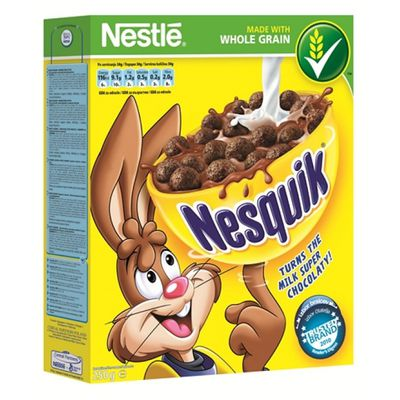 <strong>Nesquik Cereal (29.9 grams of sugar per 100 grams)</strong>