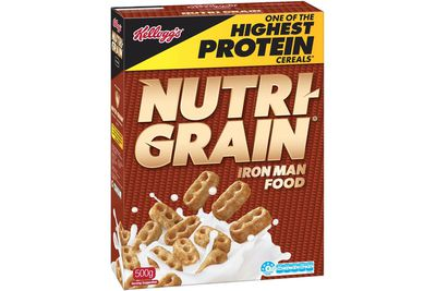 Nutri-Grain: 17.2g sugar per 40g serve