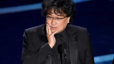 Bong Joon-ho accepts the Directing award for 'Parasite' onstage during the 92nd Annual Academy Awards at Dolby Theatre on February 09, 2020.