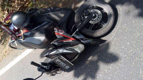 The bike at the crime scene.