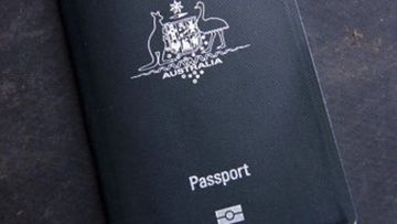 An Australian passport.