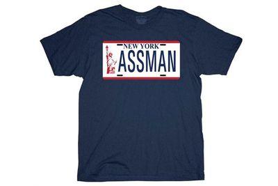 <i>Seinfeld</I> 'Assman' shirt.<br/><br/>(Image: bigbadtoystore.com)