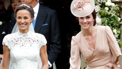 Kate and Pippa Middleton on Pippa's wedding day