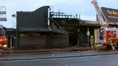 Fire crews are investigating the cause of the blaze. (9NEWS)