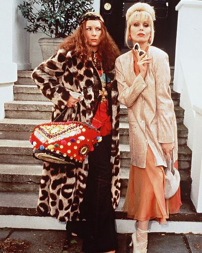 <p>Absolutely Fabulous 1992-2012</p> <p>Many of the outfits worn by&nbsp;Patsy and Edina Moonson ( Jennifer Saunders), a heavy-drinking PR agent and magazine fashion director, in Ab Fab were put together for laughs but their designer wardrobe choices were no laughing matter.</p> <p>Patsy's elegant, sleek suits, pearls and chignon hairstyle were undeniably chic and for the occasions where Edina actually got it right, her zany, Bohemian sense of style was an on-screen treat.</p> <p>&nbsp; </p> <p>&nbsp;</p>