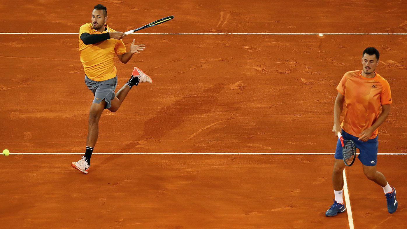 Nick Kyrgios and Bernard Tomic lose in Madrid Open doubles