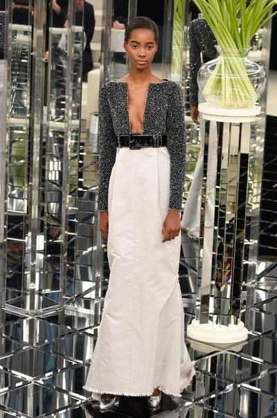 Tami Williams for Chanel Haute Couture Spring 2017. Daring necklines for after-dark.