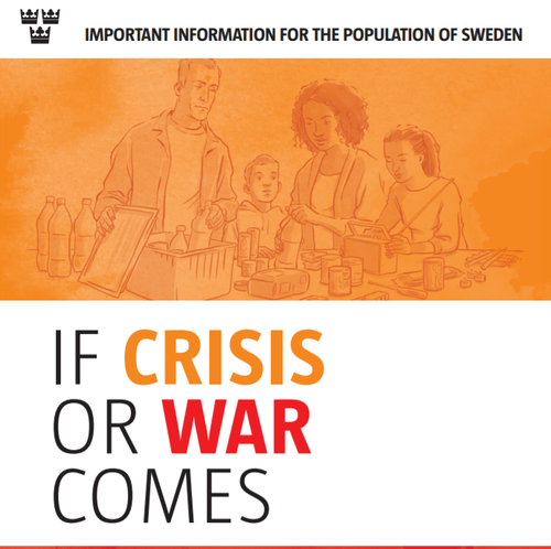 Sweden sends out information pamphlets on how to cope with war