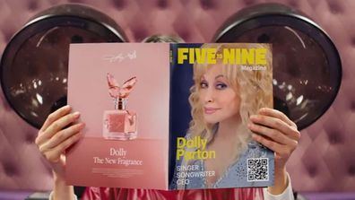 Dolly Parton's 5 to 9 commercial for Squarespace