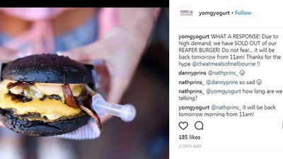"The Reaper Burger made at <a href=""http://www.instagram.com/yomgyogurt/"" target=""_top"" draggable=""false"">YOMG</a>"