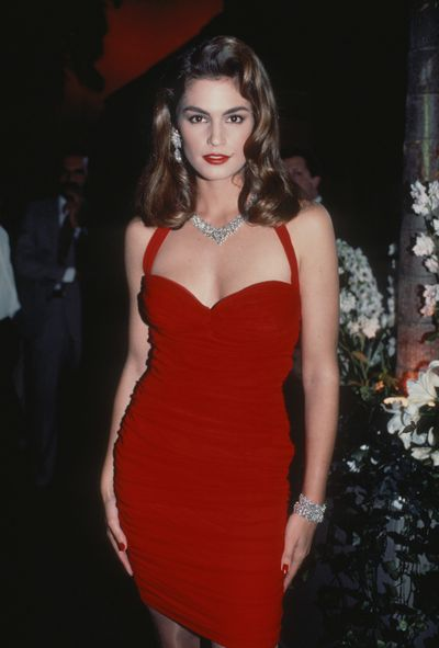 Cindy Crawford out and about in New York City in 1990.