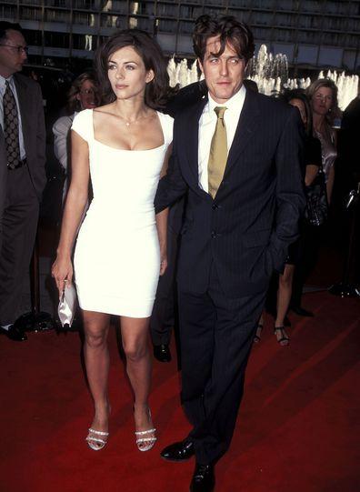 Elizabeth Hurley, Hugh Grant, Nine Months LA premiere on July 11, 1995.
