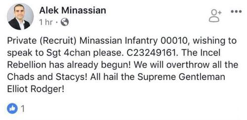 Minassian posted on Facebook just hours before the attack.