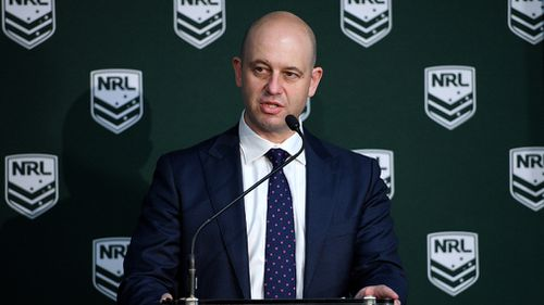 NRL executives have threatened to move the final should a Memorandum of Understanding between the league and the NSW government - which will see the game played in Sydney for the next 25 years if a rectangular stadium is built - ends (AAP).