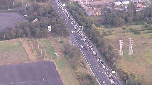 Delays expected after truck crash on M4 in Sydney