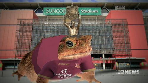 Perhaps a cane toad statue outside Suncorp Stadium?