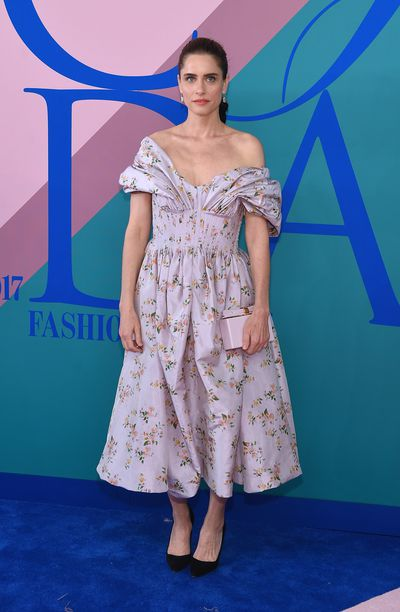 Amada Peet at the 2017 CFDA Awards.