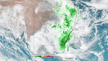 A huge swathe of thick could is hovering over much of eastern Australia.