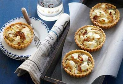 "<a href=""http://kitchen.nine.com.au/2016/05/16/17/06/herb-and-goats-cheese-tarts"">Herb and goat's cheese tarts</a>"