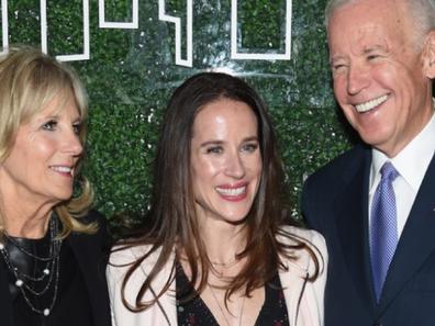 Ashley with her parents Jill and Joe Biden.