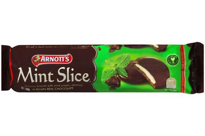 1.25 Mint Slice biscuits are 100 calories