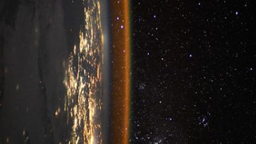 Thomas Pesquet took images from the International Space Station.